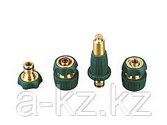 Набор GRINDA поливочный: наконечник, адаптер, соединители 1/2 х 3/4, латунь с покрытием TPR, 4 предмета, 4244-55147B