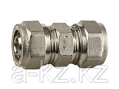 Муфта ЗУБР соединительная, цанга-цанга, 16х2,0, никель, 51400-16