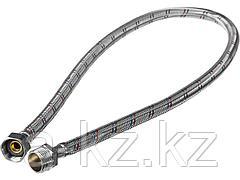 Подводка гибкая для воды ЗУБР 51005-G/S-080, оплетка из нержавеющей стали, г/ш 1/2 - 0,8 м