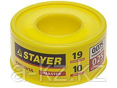 Фумлента STAYER MASTER, плотность 0,25 г/см3, 0,075ммх19ммх10м, 12360-19-025
