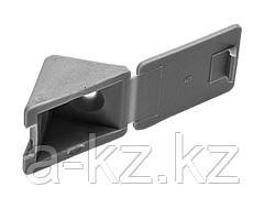 Уголок мебельный ЗУБР с шурупом, цвет св-серый, 4,0x15мм, ТФ6, 4шт, 4-308256-6