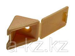 Уголок мебельный ЗУБР с шурупом, цвет сосна, 4,0x15мм, ТФ6, 4шт, 4-308256-4