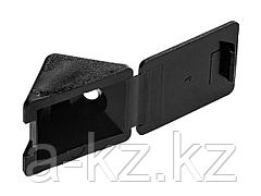 Уголок мебельный ЗУБР с шурупом, цвет черный, 4,0x15мм, ТФ6, 4шт, 4-308256-7