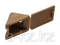 Уголок мебельный ЗУБР с шурупом, цвет бук, 4,0x15мм, ТФ6, 4шт, 4-308256-2