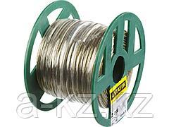Трос стальной в оплетке ПВХ STAYER 30410-20, MASTER, d=2 мм, L=200 м