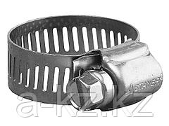 Хомут металлический STAYER PROFI нержавеющий, ширина ленты 12,7мм, 91-114мм, 50шт, 37812-091-114-50