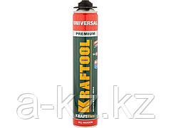 Пена монтажная профессиональная KRAFTOOL 41182_z01, KRAFTFLEX PREMIUM PRO, полиуретановая, для монтажного пистолета, всесезонная, SVS, 750 мл