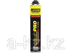 Пена монтажная профессиональная STAYER 41135, BlackPRO, полиуретановая, для монтажного пистолета, всесезонная, 750 мл