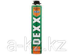 Пена монтажная DEXX 41126, полиуретановая, для монтажного пистолета, всесезонная, 750 мл