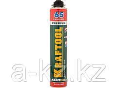 Пена монтажная профессиональная KRAFTOOL 41184_z01, KRAFTFLEX PREMIUM PRO 65, полиуретановая, для монтажного пистолета, всесезонная, SVS, 850 мл
