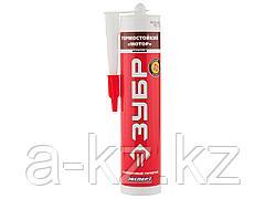 Герметик для двигателя силиконовый ЗУБР 41245-5, МОТОР, переносит t +250 (+300 град), устойчив к промышленным маслам и смазкам, красный, 280 м