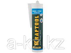 Герметик для стекла силиконовый KRAFTOOL 41256-2, KRAFTFLEX GX107 AQUA STOP, стекольный, прозрачный, 300 мл