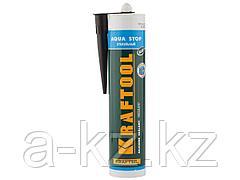 Герметик для стекла силиконовый KRAFTOOL 41256-4, KRAFTFLEX GX107 AQUA STOP, черный, 300 мл