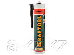 Герметик высокотемпературный силикатный KRAFTOOL 41260-4, KRAFTFLEX FR150, силикатный, огнеупорный +1500 С, жаростойкий, черный, 300 мл
