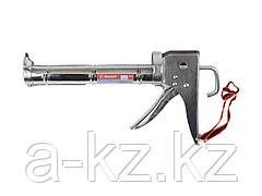 Пистолет для герметика полукорпусной ЗУБР 06625, зубчатый шток, 310 мл