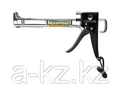 Пистолет для герметика полукорпусной KRAFTOOL 06671_z01, хромированный, 320 мл