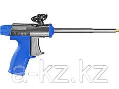 Пистолет для пены монтажной ЗУБР  4-06877_z01, ЭКСПЕРТ ТУРБО, профессиональный, цельнометаллическая конструкция, тефлоновое покрытие