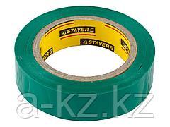Изолента STAYER MASTER зеленая, ПВХ, 5000 В, 15мм х 10м, 12291-G-15-10