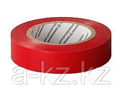 Изолента STAYER PROFI красная ПВХ, на карточке, 15мм х 10м х 0,18мм, 12292-R-15-10