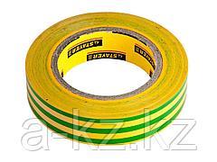 Изолента STAYER PROFI желто-зеленая, ПВХ, 15мм х 10м х 0,18мм, 12292-S-15-10