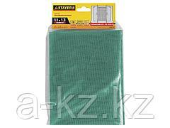 Москитная сетка STAYER 12517-11-13, STANDARD, для окон, в индивидуальной упаковке, зеленая, 1,1 х 1,3 м