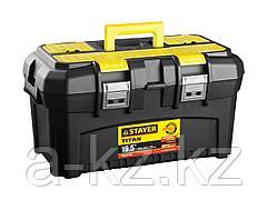 Ящик для инструментов STAYER 38016-19, MASTER, пластиковый, 490 x 290 x 270 мм, 19 дюймов