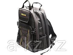 Сумка рюкзак для инструмента KRAFTOOL 38745, INDUSTRIE, два внутренних отделения, 49 карманов, размер 430 х 360 х 230 мм