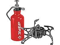 Мультитопливная горелка ЗУБР 68210, МАСТЕР, туристическая, бензин или газ