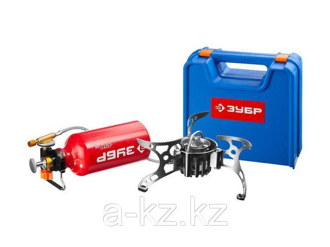 Мультитопливная горелка ЗУБР 68202, ЭКСПЕРТ, туристическая, бензин или газ, в кейсе
