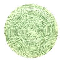 Стеклянная плоская тарелка «STONEMANIA» 25 см. Фисташковая.