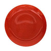 Стеклянная плоская тарелка «STONEMANIA» 25 см. Красная.