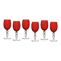 Набор из 6 цветных бокалов «PARISON» 300 мл. Цвет красный.