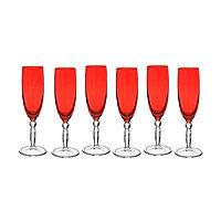 Набор из 6 цветных бокалов «PARISON» 175 мл. Цвет красный.