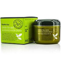 Farm Stay - Отбеливающий Аква крем для лица на основе зеленого чая