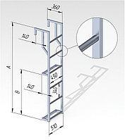 Лестница алюминиевая на полувагон