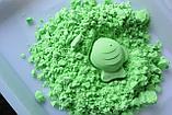 Кинетический песок (зеленый, с формочками), фото 2