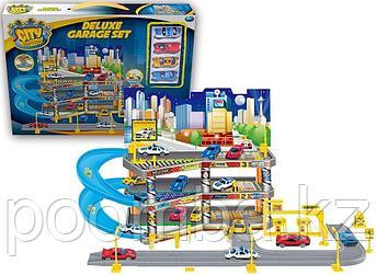 Игровой набор City Parking - Гараж с 4 машинками