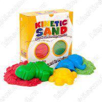 Песок кинетический в наборе с формочками