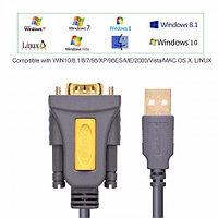 Конвертер USB(m) на COM(m) RS232, 2m, чип PL2303, (20222) UGREEN