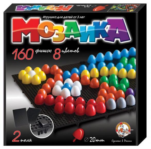 Мозаика 160 элементов / 8 цветов / два поля