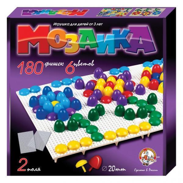 Мозаика 180 элементов / 6 цветов / два поля