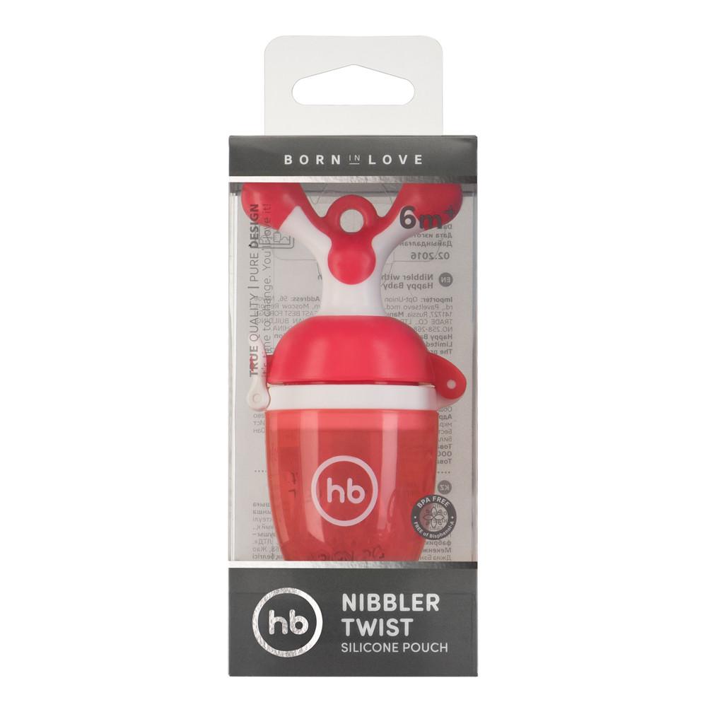 """Happy Baby Ниблер с силиконовой сеточкой """"NIBBLER TWIST"""" (красный, или зеленый)"""