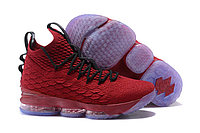 Баскетбольные кроссовки Nike LeBron 15 University Red and Black, фото 1
