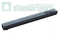 Канал в комплекте с решеткой Standartpark 088011 ДС-25-ПП пластиковый с оцинкованной решеткой