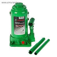 Домкрат гидравлический бутылочный TUNDRA 15 т, высота подъема 225-425 мм