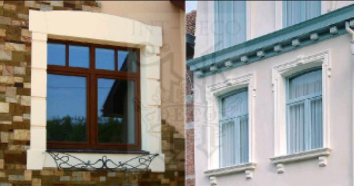 Обрамление окон фасада