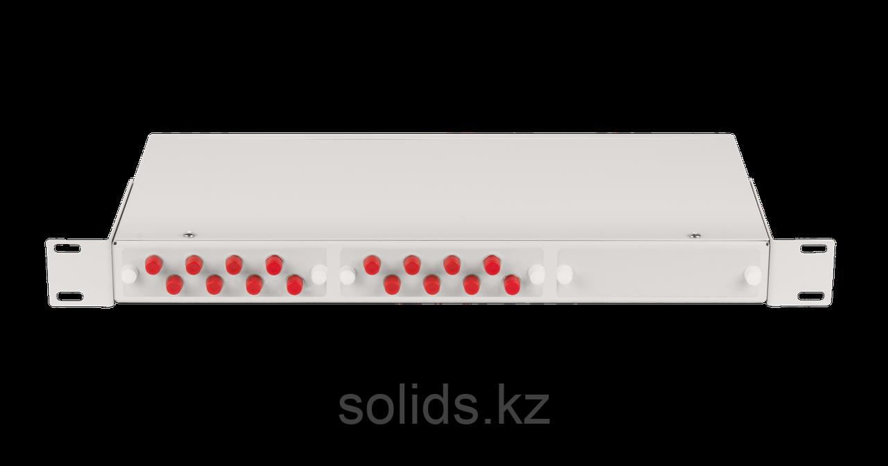 Оптический кросс 1U укомплектованный на 16 портов FC/UPC