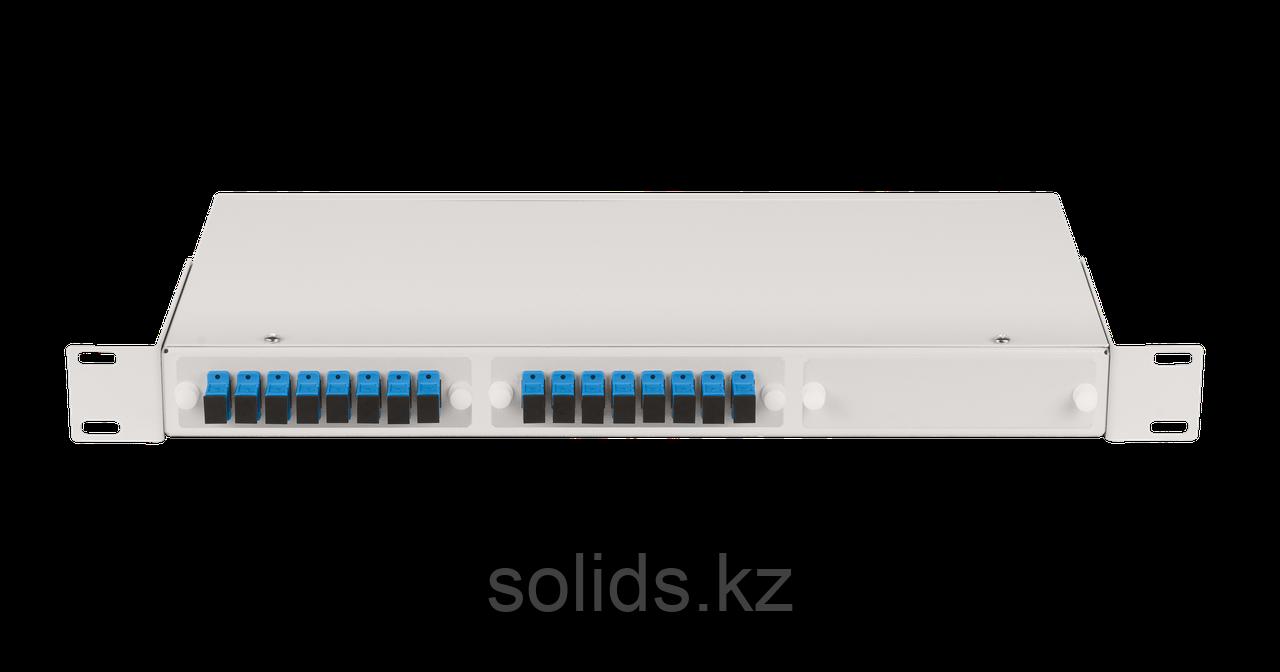 Оптический кросс 1U укомплектованный на 16 портов LC/UPC