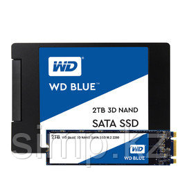 Твердотельный накопитель 1000GB SSD WD WDS100T2B0B Серия BLUE 3D NAND M.2 2280