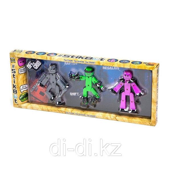 Stikbot\Стикбот 3 фигурки Stikbot Off the Grid, Raptus